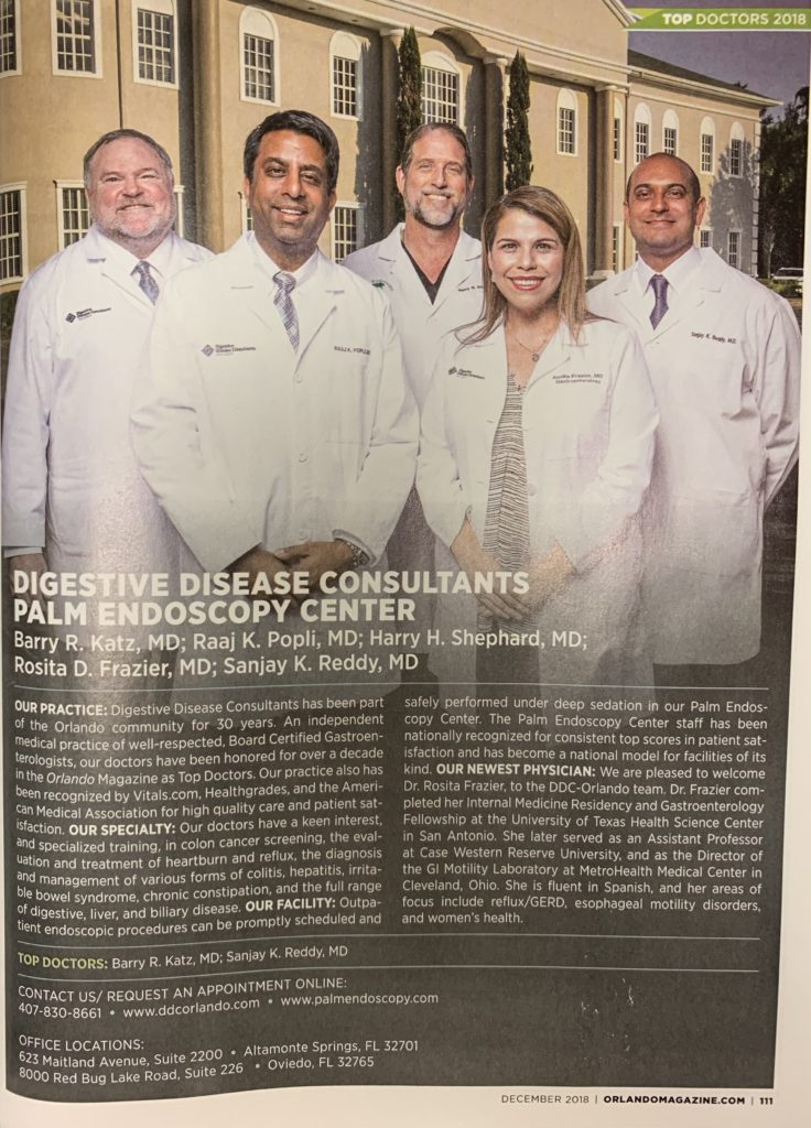 Top Doctors Orlando Magazine DDC